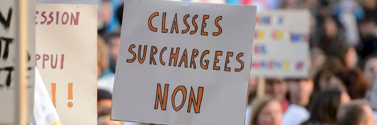 Près de 4000 signatures pour dire NON à l'augmentation des effectifs dans les classes